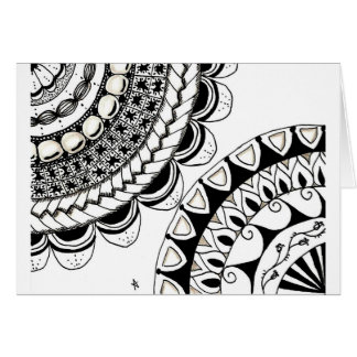 zentangle mandala - double flower cards