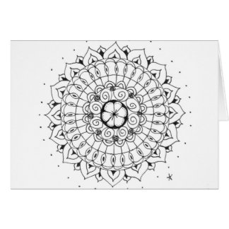 zentangle mandala - flower card
