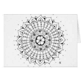 zentangle mandala - flower card