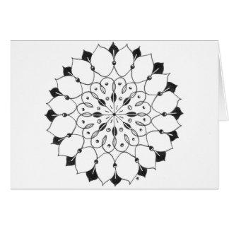 zentangle mandala - lotus cards