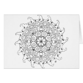 zentangle mandala - ocean greeting cards