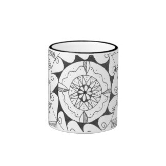 zentangle mandala - swirls mug