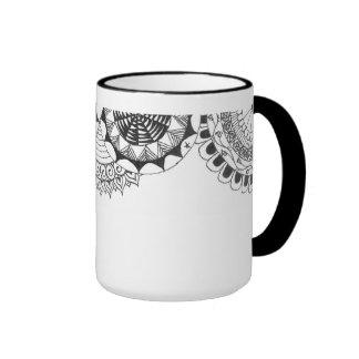 zentangle mandalas - roses coffee mug