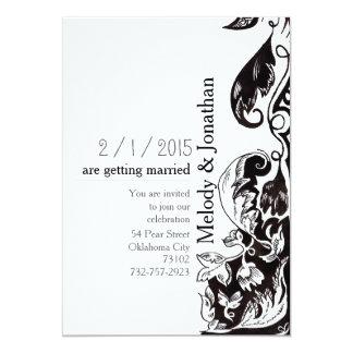 Zentangle Ornament Wedding Card Invitation