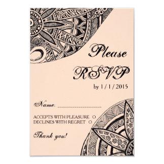 Zentangle Ornament Wedding Invitation Card