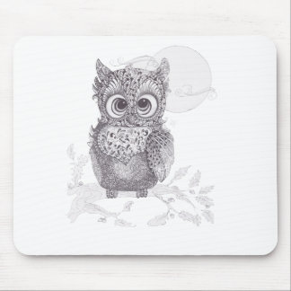 Zentangle Owl Mouse Pad