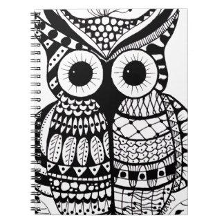 Zentangle Owl Note Book