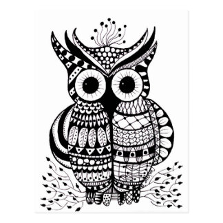 Zentangle Owl Post Cards