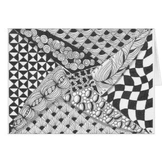 zentangle pinwheel greeting cards