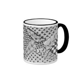 zentangle pinwheel mugs