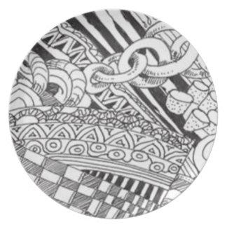 Zentangle Dinner Plates