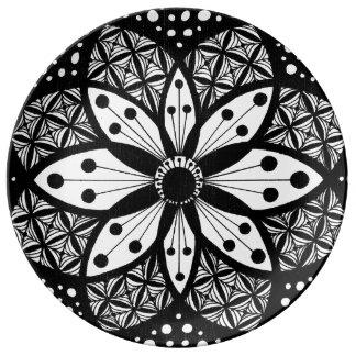 Zentangle Rosette Porcelain Plate