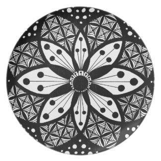 Zentangle Rosette Party Plate