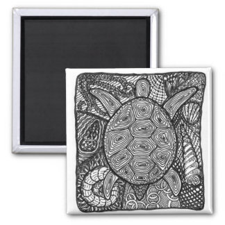 zentangle turtle refrigerator magnets