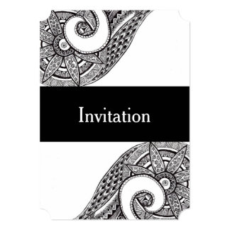 Zentangle Wedding Invitation Card