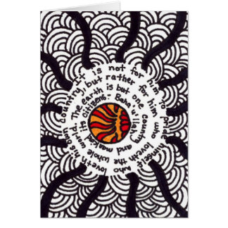 Zentangles Unity Greeting Card
