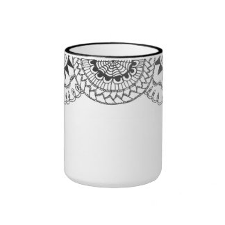 zentnagle mandalas - zigzag curliques mugs