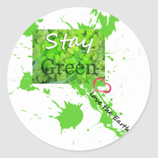 Zenz Green Design Classic Round Sticker