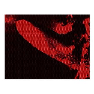 Zepelín del diodo electroluminoso tarjeta postal