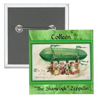 "Zepelín ""del trébol"" de St Patrick del vintage Pins"