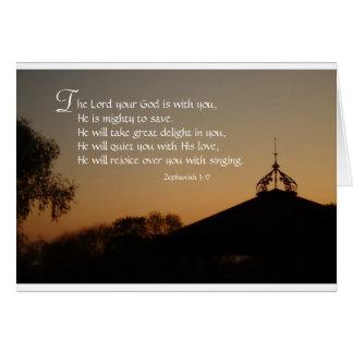 Zephaniah 3:17 card