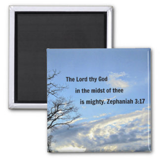 Zephaniah 3:17 magnet