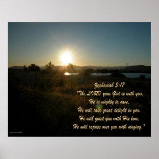 Zephaniah 3:17 SE2 Poster