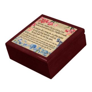 Zephaniah 3 Scripture Manuscript Floral Gift Box