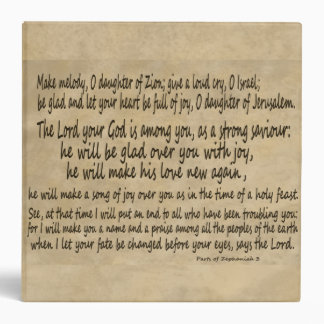 Zephaniah 3 Vellum Manuscript Daughter of Zion Binder