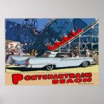Zephyr Pontchartrain Beach Vintage Poster