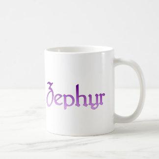 Zephyr purple logo mug