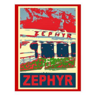 Zephyr Rollercoaster Pontchartrain Beach Postcard