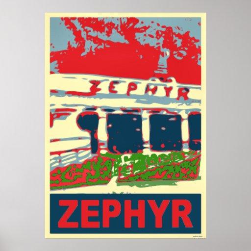 Zephyr Rollercoaster Pontchartrain Beach Poster