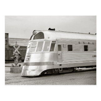 Zephyr Streamlined Train, 1939 Postcard