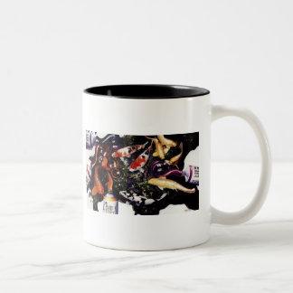 """""""Zephyr's Solace"""" Coy Fish & Paint Watercolor Mug"""