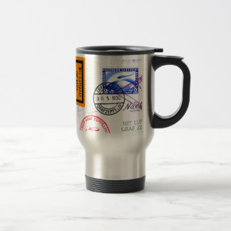 Zeppelin Adventure Travel Time Travel Mug
