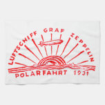 Zeppelin Adventures 1931 Polar Flight Kitchen Towel