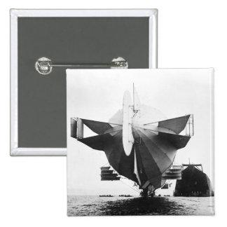 Zeppelin Airship  1908 Button