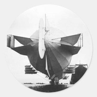 Zeppelin Airship  1908 Classic Round Sticker