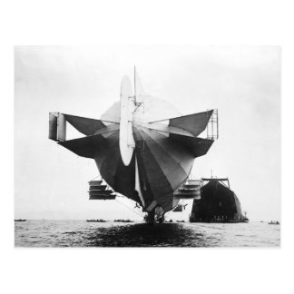 Zeppelin Airship  1908 Postcard