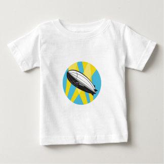 Zeppelin Blimp Flying Overhead Circle Retro T-shirt