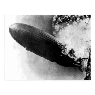 Zeppelin Burning Post Cards