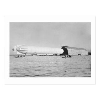 Zeppelin Garage, 1908 Postcard