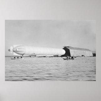 Zeppelin Garage: 1908 Poster