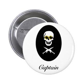 Zeppelin Pirate Captain Button