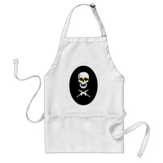 Zeppelin Pirate Ovalpng Adult Apron