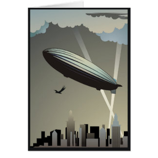 Zeppelin Skyline Note Card