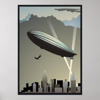 Zeppelin Skyline Poster