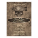 Zeppelin Steampunk Wedding Invitation