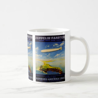 Zeppelin Trips ~ Over Sea and Land Coffee Mug